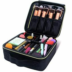 MONSTINA Makeup Train Cases Professional Travel Makeup Bag C