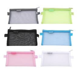 Makeup Zipper Pouch Pencil Pen Case Cosmetic Bag Clear Toile