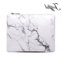 f80eaf4f7106 Joyful Marble Cosmetic Bag Zipper Storag...