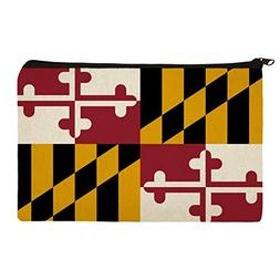 Maryland State Flag Makeup Cosmetic Bag Organizer Pouch