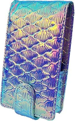 Mermaid Makeup Lipstick Case with Mirror for Purse by Glam I