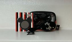DISNEY MICKEY MOUSE SILHOUETTE MAKEUP BAG SET HAIRBRUSH AND