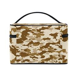 Military Camo Camouflage Pattern Print Travel Makeup Toiletr
