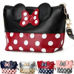 Minnie Mouse Makeup Bag PU Leather Cosmetic Vanity Organize