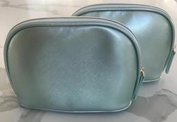 LA MER mint light green shiny makeup bag cosmetic case pouch