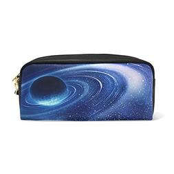 MMStyle PU Leather Pen Pencil Cosmetic Case Planet With Sunr