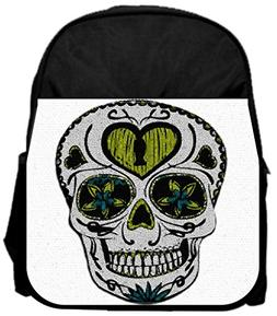 """Mosaic skull 14"""" x 12"""" Small Backpack and 4.5"""" x 8.5"""" Pencil"""