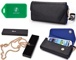 Multi functional wallet and phone holder w/ a ccrossbody cha