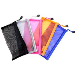 IDS 5PCS Multipurpose Nylon Mesh Cosmetic Bag Makeup Travel