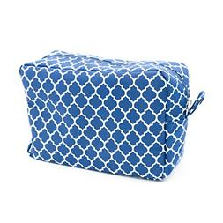 Navy Blue Cosmetic Bag, Medium Sized Makeup Toiletry Bag, Tr