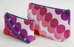 NEW ~ 2 Clinique Kapitza Cosmetic Makeup Bags Cases Multi-Co