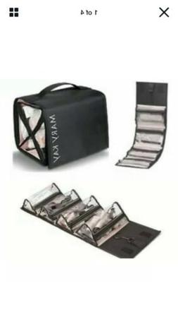 New Black Mary Kay Nylon Rolling Hang Up Cosmetic Bag With P