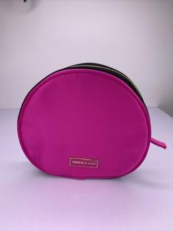 NEW PRADA CANDY MAKEUP BAG COSMETIC POUCH PINK Satin Round z