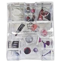 NEW CABOODLES CLEAR ACRYLIC MAKEUP/ACCESSORY COUNTER TRAY ST