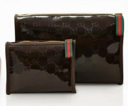 NEW Gucci Parfums Cosmetic Makeup Bag Black 2 Sizes to Choos