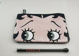 NEW Betty Boop X IPSY Eye Brush & Makeup Sequined Glam Bag O
