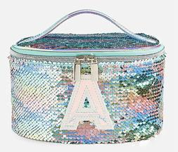 NEW Girl's Justice Flip Sequin Initial Train Case Jewelry Ma