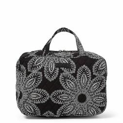 New Vera Bradley Grand Cosmetic Makeup Bag Blanco Bouquet Bl