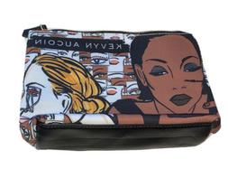 NEW KEVYN AUCOIN Makeup Cosmetic Bag Clutch Canvas Zipped