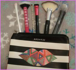NEW Six Makeup Brushes in Sephora Make Up Bag Full Size