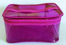 New Clinique Skincare Makeup Beauty Cosmetic Train Case Bag