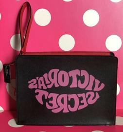 New Victoria's Secret Beauty Makeup Cosmetic Bag Black Red