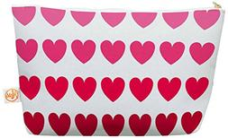 """KESS InHouse Nl Designs """"Pink Hearts"""" Red Everything Bag, 12"""