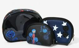 NWT! Loungefly 3-piece Coraline Cosmetic Bag Set~Makeup Case
