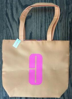 NWT Clinique Cosmetic Makeup Tote Shopping Bag Orange Pink G