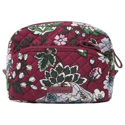 NWT Vera Bradley ICONIC LARGE COSMETIC bag,Bordeaux Blooms 2