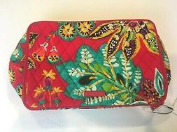 NWT Vera Bradley Large Blush & Brush Makeup Case Rumba Cosme