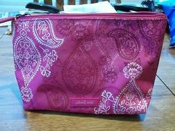 NWT Vera Bradley Lighten Up Large Cosmetic Bag In Stamped Pa