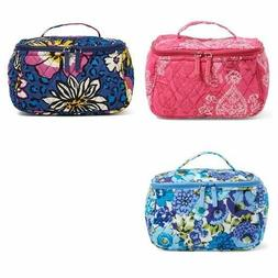 NWT VERA BRADLEY TRAVEL COSMETIC MAKEUP CASE ZIP AROUND BAG
