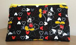 Padded Zippered Lined Mickey Mouse Make Up Cosmetic Toiletry
