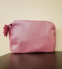 LANCOME PINK BAG MAKEUP COSMETIC SHIMMERY ZIPPERED BAG NEW 2