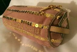 Juicy Couture Pink Cosmetic Makeup Bag Pouch Barrel Clutch G