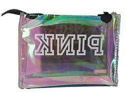 Victoria's Secret PINK Holographic Clear Cosmetic Makeup Bag