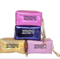 Pink Makeup Cosmetic Bag Zipper Bag Wristband FREE SHIPPING