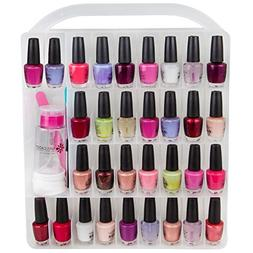 Nail Polish Organizer Storage Holder case - Stores 64 Bottle