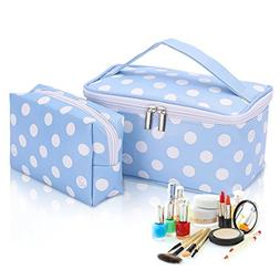 HOYOFO Polka Dot Cosmetic Bag Multifunction Portable Makeup