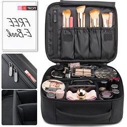 Portable Travel Makeup Bag Organizer | Cosmetic Case Organiz
