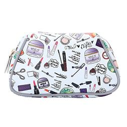 HOYOFO Makeup Bag Cosmetic Pouch Travel Organizer Toiletry C