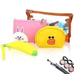 HOYOFO Portable Cosmetic Bags Set of Different Sizes Makeup
