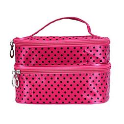 DZT1968 Women Portable Cosmetic Organizer Makeup Case Pouch