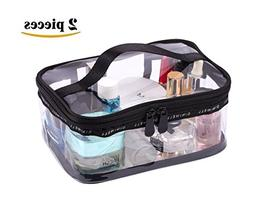 LOUISE MAELYS Portable Clear Makeup Bag Zipper Waterproof Tr