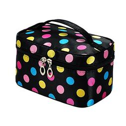 Portable Cute Small Travel Colorful Mirror Makeup Bag Cosmet