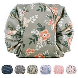 Portable Lazy Drawstring Makeup Bag Travel Cosmetic Pouch To