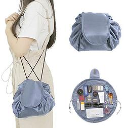 Quick Drawstring Makeup Bag and Travel Toiletries Pouch, Wat