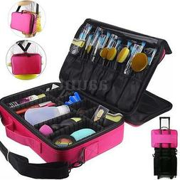 Portable Makeup Brush Bag Cosmetic Case Storage Handle Organ