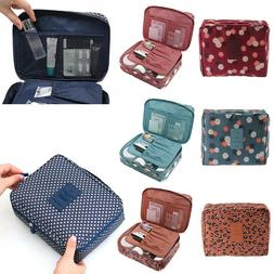 Portable Makeup Case Travel Cosmetic Bag Toiletry Organizer
